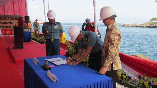 TNI AL Laksanakan Shipnaming Tiga Kapal Angkut Tank di Lampung