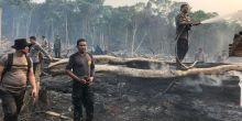 Satgas Karhutla Tangkap 3 Tersangka Kebakaran Hutan di Kawasan Tesso Nilo, Riau