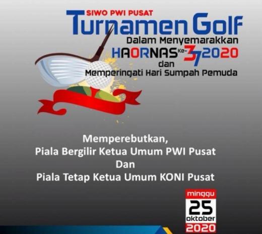 Turnamen Golf SIWO PWI Pusat Peringati Haornas dan HSP