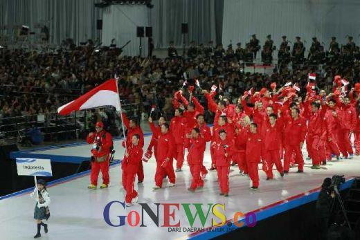 Asian Winter Games 2017, Defile Bersejarah Merah Putih di Panggung Olahraga Es