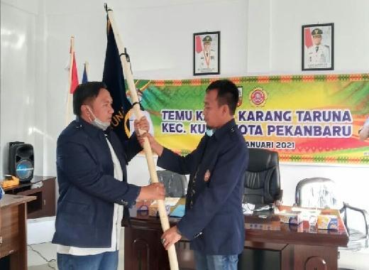 Ade Gunawan jabat Ketua Karang Taruna Kecamatan Kulim Pertama