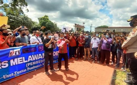 Sambangi Mapolres Simalungun, Ratusan Jurnalis Desak Polri Usut Kasus Penembakan Wartawan