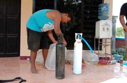 Waspada, Oksigen Palsu Diduga Diisi Udara Kompresor Tambal Ban Ditemukan di Tulungagung