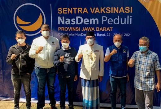 Targetkan Realisasi 30.000 Dosis, NasDem Jabar Bangun Sentra Vaksinasi