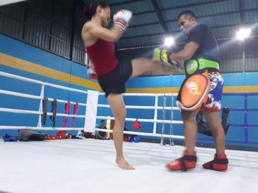 Pelatnas Kick Boxing Sparring Partner Dengan Atllt Manca Negara di Bali