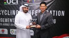 Jabat Wakil Presiden ACC, Okto: Silahkan Manfaatkan Bangun Prestasi Balap Sepeda