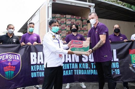 Persita Ringankan Beban Masyarakat Tangerang