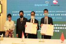 Bahan Baku Vaksin Sinovac China akan Mulai Dipasok November