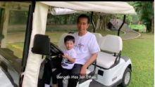 Disaat Anak-anak Riau Susah Bernafas, Jokowi Pamer Hirup Udara Segar Bareng Cucu