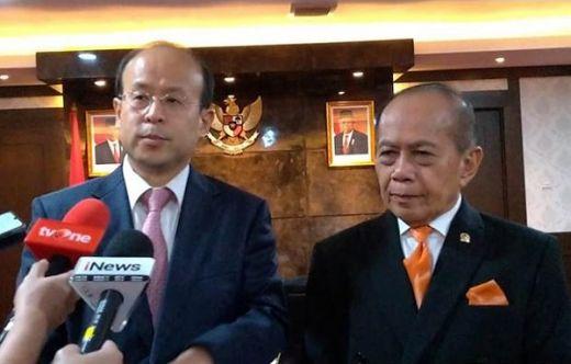 Temui Wakil Ketua MPR, Dubes China Jelaskan Alasan Nelayannya Cari Ikan di Natuna