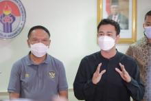 Raffi Ahmad Kampanye Protokol Kesehatan di Piala Menpora 2021