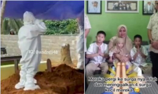 Ayah dan Ibu Meninggal Dunia, Momen Haru Bocah di Kaltim Azan Sendiri di Makam