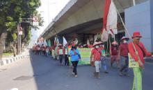 Ratusan Petani asal Sumut Kembali Jalan Kaki Geruduk Istana