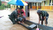 Habis Tercekam Ancaman Tsunami, Kini Warga Serang Terendam Banjir