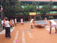 Pemain KlubTeqball SMPN 111 Dapat Pelajaran dari Pelatih Hungaria