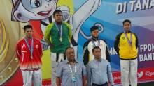 Semangat Membara dari Lancang Kuning, Jelang Penutupan Riau Kembali Raih Emas dari Cabor Taekwondo