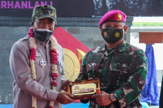 Ke Korps Marinir di Sumut, Nono Sampono: TNI harus Waspada Pergeseran Geo Politik dan Geo Ekonomi