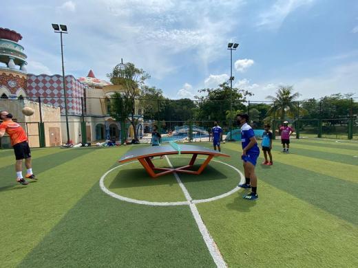 STC Soccer School Minta Program Latihan Teqball dari Bence Forgacs