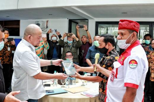 Fokus Bahas Kesejahteraan Papua, LaNyalla Terima Pengurus Gercin