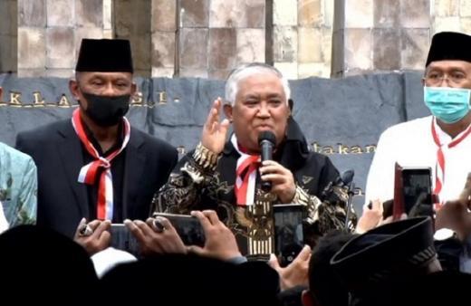 Din Syamsuddin Sebut Polisi Tak Adil Bubarkan Acara KAMI di Surabaya
