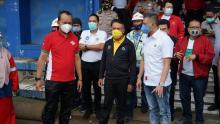 Menpora dan PSSI Lihat Persiapan Lapangan Sidolig dan Stadion Si Jalak Harupat