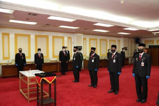 Sejumlah Pejabat Pimpinan Tinggi Madya Kemendagri dan BNPP Dilantik, Termasuk Dirjen Bina Pemdes