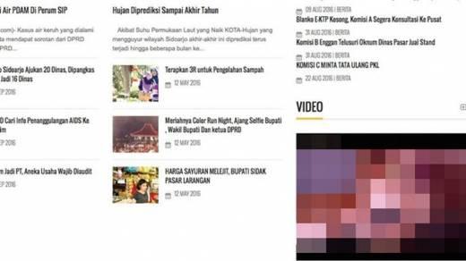 Usai Videotron Jakarta, Kini Giliran Situs DPRD Sidoarjo Tampilkan Film Porno
