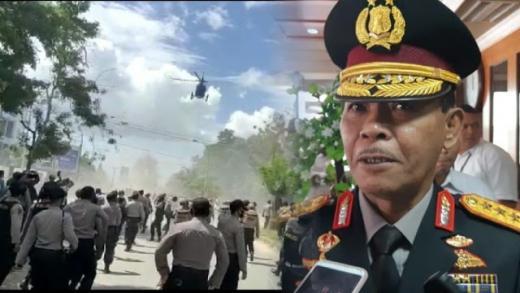 Geram Helikopter Polisi Bubarkan Demo Mahasiswa, Kapolri: Jika Boleh Saya Tempeleng Itu