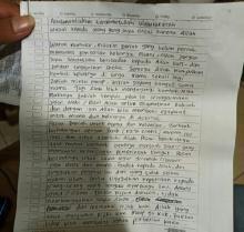 Berikut Isi Lengkap Surat Wasiat ZA yang Ditemukan Polisi