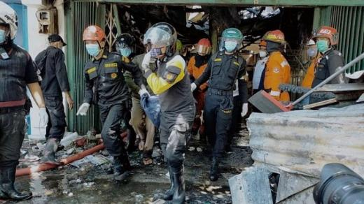 Kebakaran Pasar Blauran Makan Korban, Nenek dan Cucunya Tewas Terpanggang
