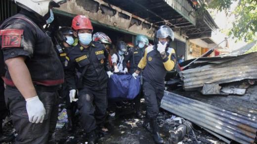 Toko di Pasar Blauran Suarabaya Kebakaran, 5 Orang Tewas