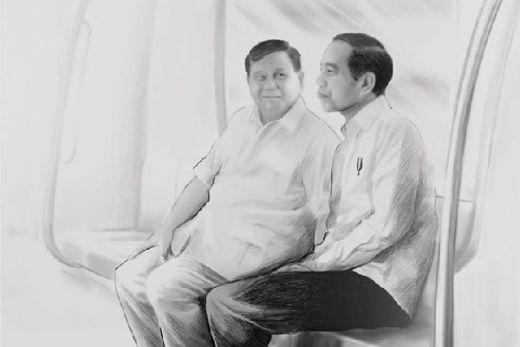 Sambut Tahun Baru 2020 Masehi, Prabowo Unggah Sketsa kala Bersama Jokowi, Berapa yang Nge-Like?