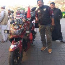 Alhamdulillah, Rider Asal Jambi Ini Tiba di Mekkah Usai 8 Bulan Naik Nmax